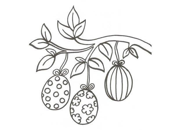Desenho De Ovos De Pascoa Para Colorir