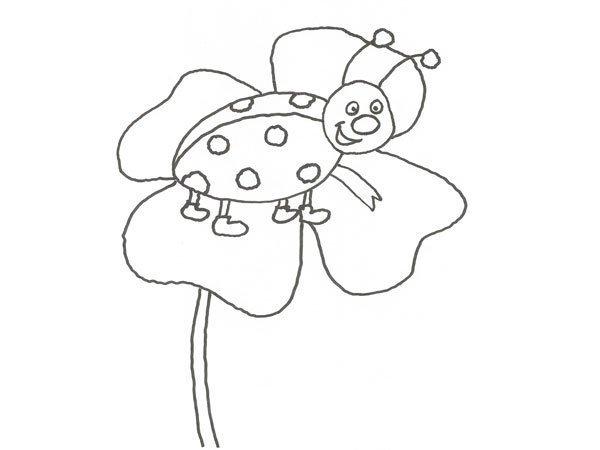 Desenho de uma Joaninha para pintar