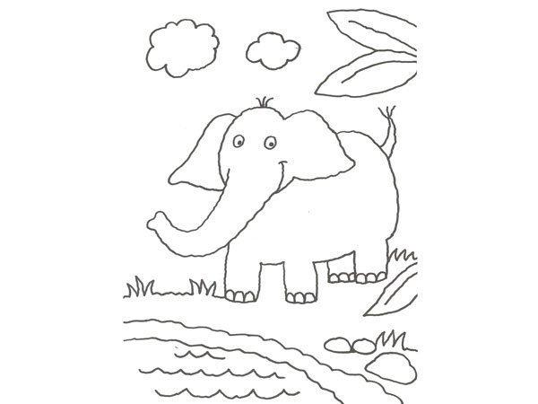 Desenho De Elefante Para Colorir Com As Criancas