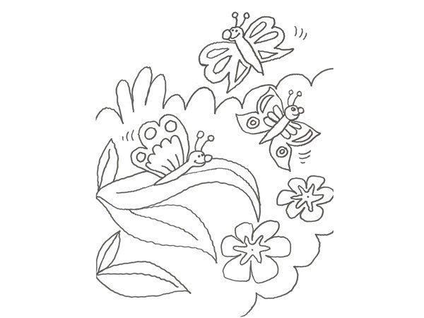 Desenho de borboletas felizes para colorir