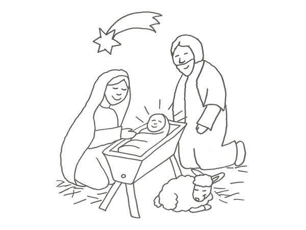 Desenho De María José E Jesús Para Colorir