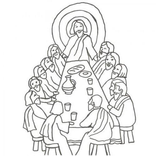 Desenho da última ceia de Jesús para pintar