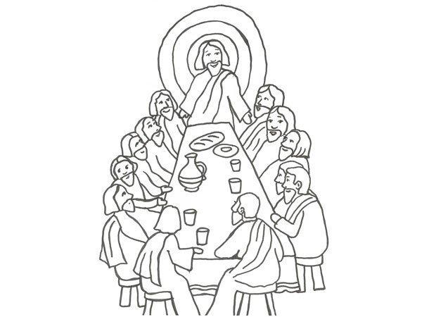 Desenho Da Ultima Ceia De Jesus Para Pintar