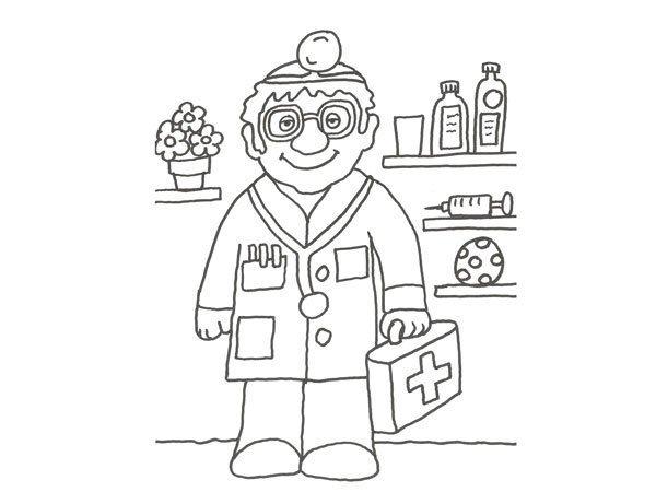 Desenho De Medico Na Consulta Para Pintar
