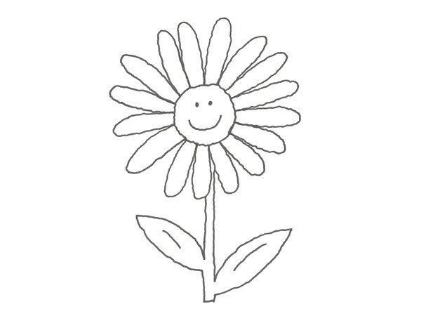 Desenho de margarida para pintar com as crianças
