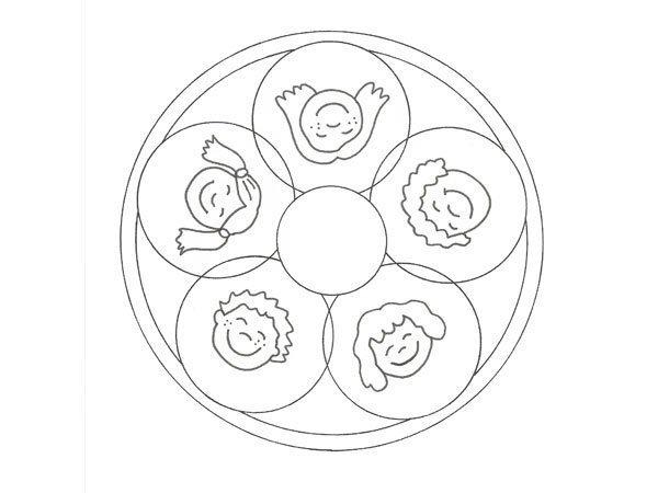 Desenho de mandala com crianças para pintar