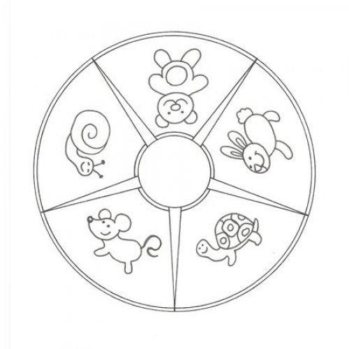 Desenho de mandala de animales para colorir