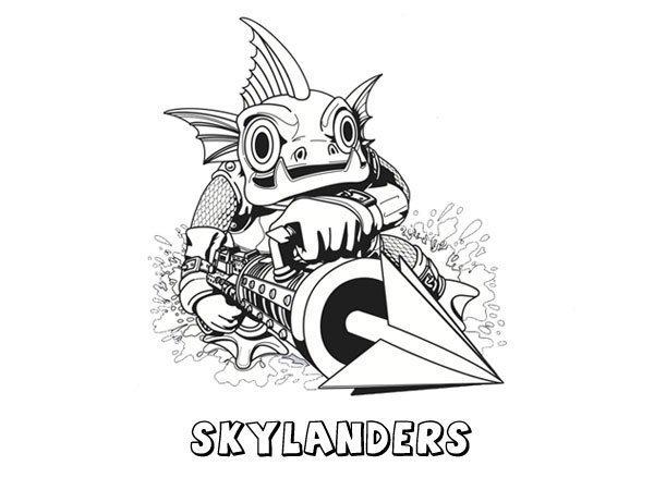 Skylanders Spyros Adventure Dibujos Para Colorear Con Niños