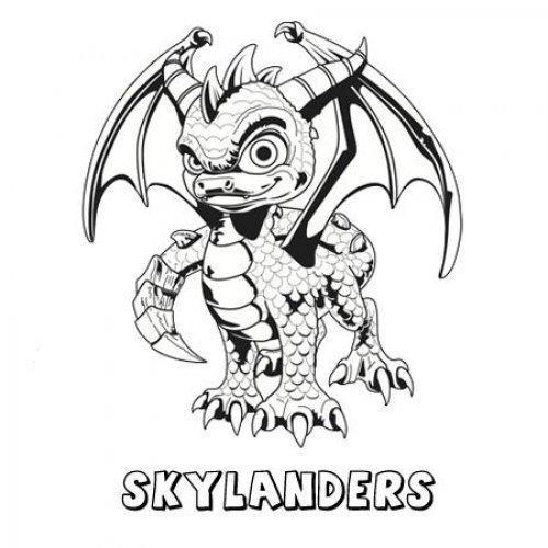 Skylanders Spyro´s Adventure. Dibujos infantiles para pintar