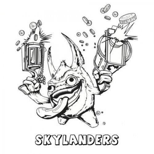 Skylanders Spyro´s Adventure. Dibujos de videojuegos para pintar