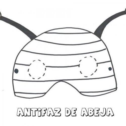Antifaz de abeja. Dibujos para colorear con los niños