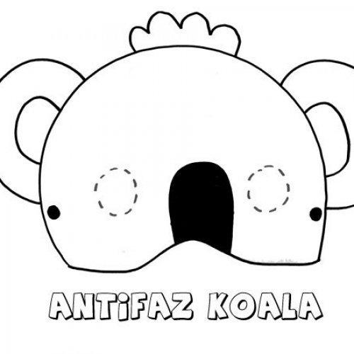 Antifaz de koala. Dibujos para colorear con los niños