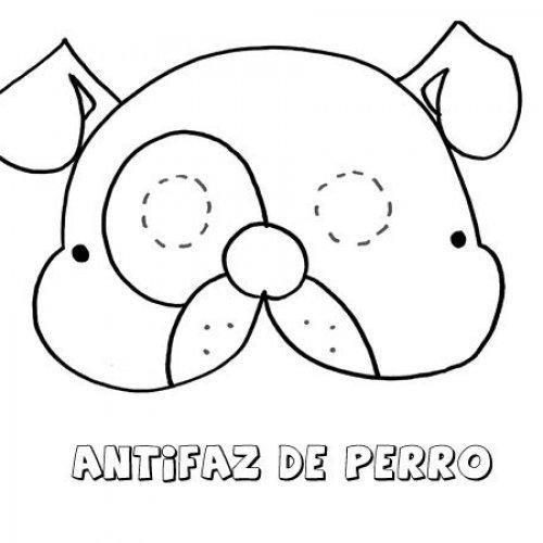 Antifaz de perro. Dibujos para colorear con los niños