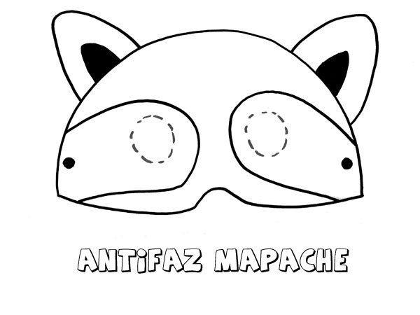 Antifaz de mapache. Dibujos para colorear con los niños