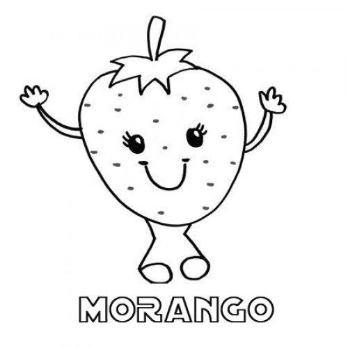 Desenho De Morango Para Imprimir E Pintar
