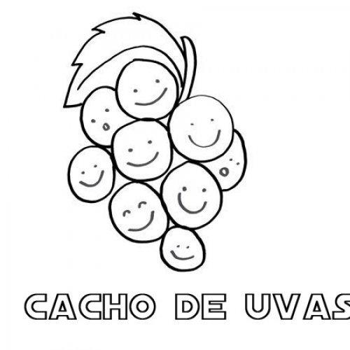desenho de um cacho de uvas para colorir