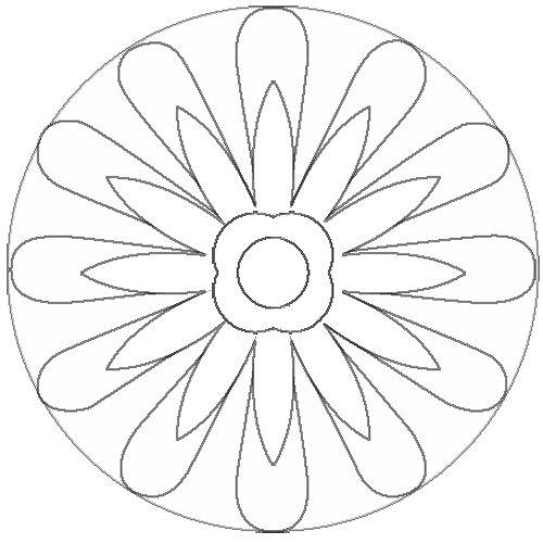 Desenho de mandala de flores para pintar