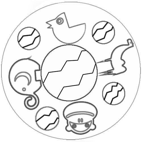Desenho de brinquedos. Mandala para colorir