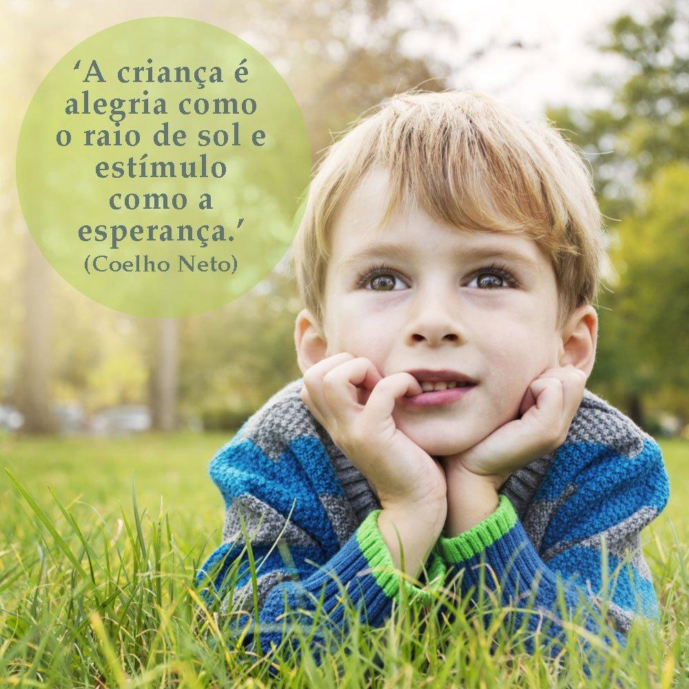 Criança é alegria e esperança