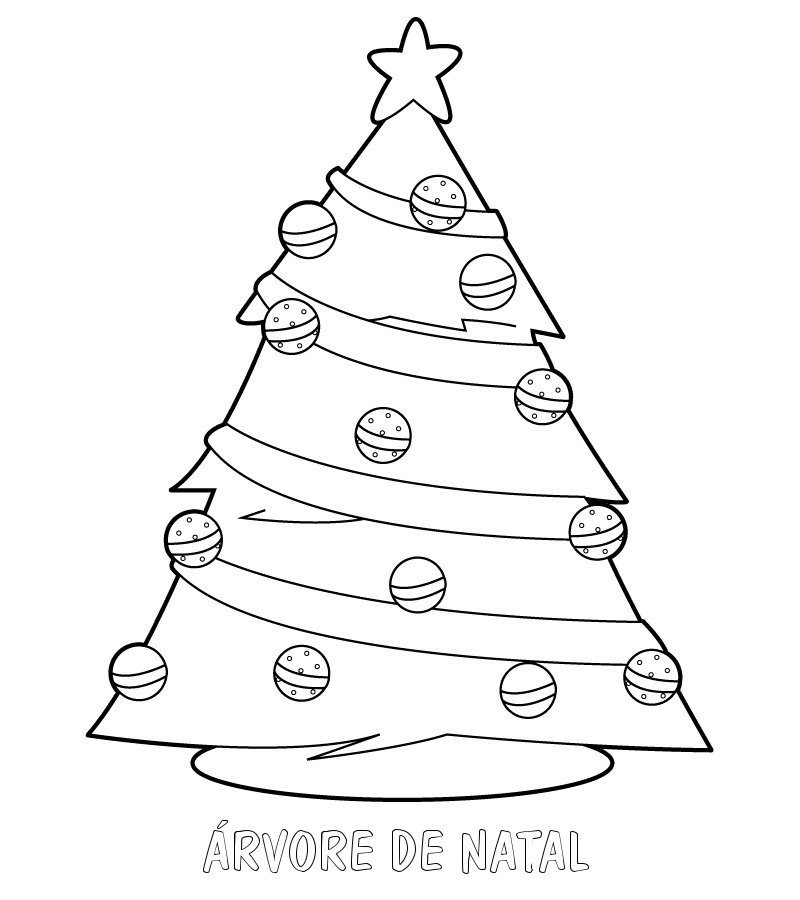Desenho Para Pintar De Arvore De Natal