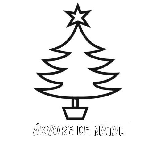 Desenho Facil De Arvore De Natal Para Pintar
