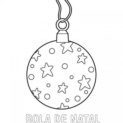 Desenho de bola de Natal para colorir