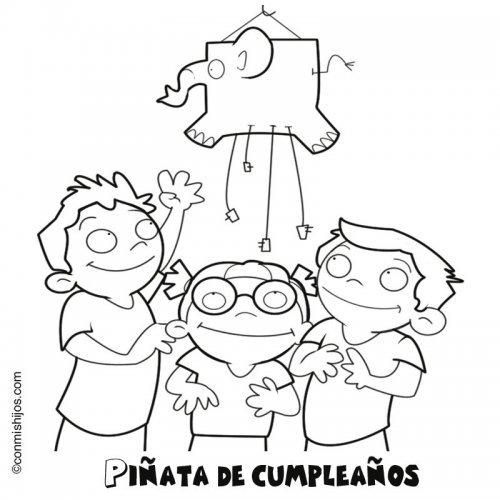 Piñata de cumpleaños