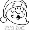 Desenho para colorir de Papai Noel asustado