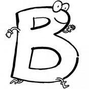 Desenho da letra B para colorir