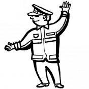 Desenho de polícia para pintar com as crianças