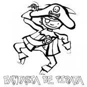 Desenho de fantasia de pirata para colorir