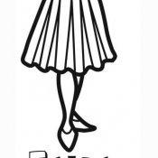 Desenho de saia para imprimir e pintar