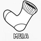 Desenho de meia para colorir com as crianças
