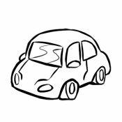 Desenho para imprimir de um carro