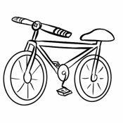 Desenho de bicicleta para pintar com as crianças