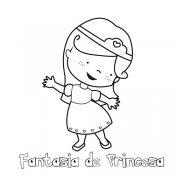 Desenho de fantasia de princesa para pintar