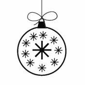Desenho de bola de Natal com estrelas