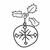 Bola de Natal. Desenho para colorir