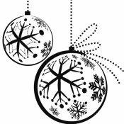 Desenho de bolas de Natal para colorir
