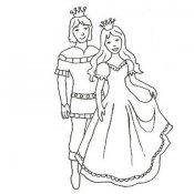 Desenho de príncipes para imprimir e pintar