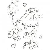Desenho de uma fantasia de princesa