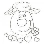 Desenho da cara de uma ovelha para pintar