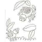 Desenho de aranhas para colorir