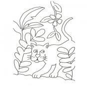 Desenho de uma leoa para colorir