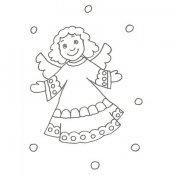 Desenho de um anjo para pintar com as crianças