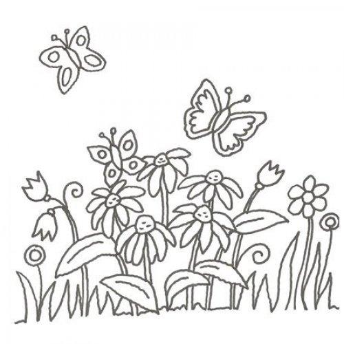 de jardim de flores para colorir  Desenhos de flores para colorir