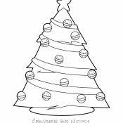 Desenho para pintar de árvore de Natal