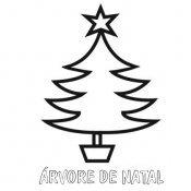 Desenho fácil de árvore de Natal para pintar