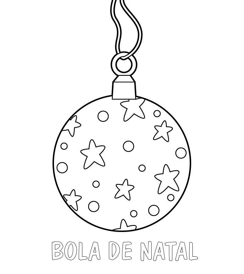 Imprimir Desenho de bola de Natal para colorir