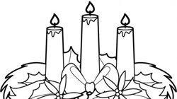 Desenhos de velas para colorir com as crianças no Natal